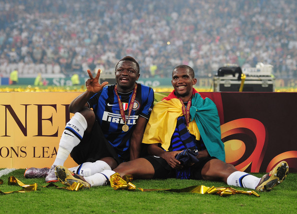 Image result for etoo muntari inter