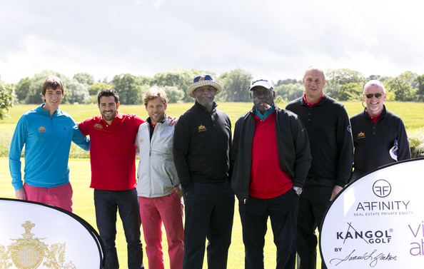 Affinity Real Estate Shooting Starts Second Round [community,team,competition event,recreation,event,competition,vehicle,leisure,championship,crew,affinity,real estate shooting starts second round,l-r,the grove hotel,james phelps,richard roundtree,samuel l. jackson,jamie bamber,jesse metcalfe,steve redgrave]