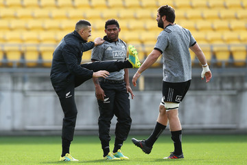 Samuel Whitelock New Zealand All Blacks Training Session