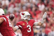 Quarterback Carson Palmer #3 of the Arizona Cardinals throws a pass during the NFL game against the San Francisco 49ers at the University of Phoenix Stadium on October 1, 2017 in Glendale, Arizona. The Cardinals defeated the 49ers in overtime 18-15.