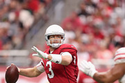 Quarterback Carson Palmer #3 of the Arizona Cardinals throws a pass during the first half of the NFL game against the San Francisco 49ers at the University of Phoenix Stadium on October 1, 2017 in Glendale, Arizona.
