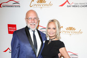 Tim Seelig and Kristin Chenoweth arrive at The San Francisco Gay Men's Chorus' 41st Season Crescendo Gala Fundraiser at The Fairmont on April 27, 2019 in San Francisco, California.
