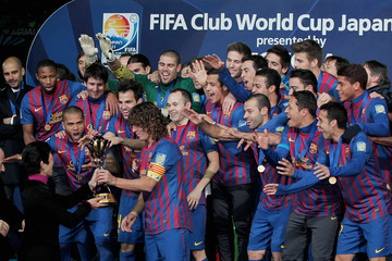 Lionel Messi Carles Puyol Santos v FC Barcelona - FIFA Club World Cup Final