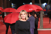 """Isabella Ferrari walks the red carpet ahead of the """"Sapore Di Mare"""" And """"If Beale Street Could Talk"""" screening during the 13th Rome Film Fest at Auditorium Parco Della Musica on October 21, 2018 in Rome, Italy."""