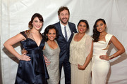 "(L-R) .Actors Shari Sebbens, Miranda Tapsell, Chris O' Dowd, Deborah Mailman, and Jessica Mauboy attend ""The Sapphires"" screening at The Paris Theatre on March 13, 2013 in New York City."
