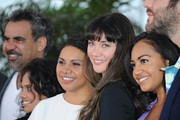 "(L-R) Director Wayne Blair, Miranda Tapsell, Deborah Mailman, Shari Sebbens and Jessica Mauboy attend the ""The Sapphires"" Photocall during the 65th Annual Cannes Film Festival at Palais des Festivals on May 20, 2012 in Cannes, France."