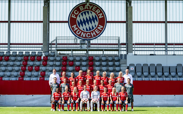 FC Bayern Muenchen Women's - Allianz Frauen Bundesliga Team Presentation [allianz,3rd row l-r,frauen bundesliga team presentation,team,sport venue,stadium,player,championship,team sport,sports,competition event,tournament,fc bayern muenchen women,robert spulak,thomas woerle,frank pohlmann,melanie leupolz,lucie vonkova,carina wenninger]