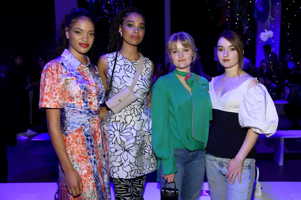 Prabal Gurung - Front Row - September 2019 - New York Fashion Week: The Shows [performance,event,fashion,fashion design,fun,performing arts,fashion show,leisure,prabal gurung,maddie dever,nesta cooper,kaitlyn dever,sarah cooper,front row,front row,l-r,shows,new york fashion week]