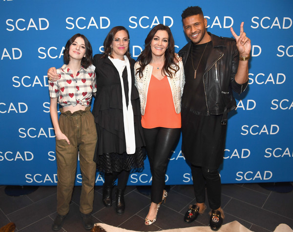 SCAD aTVfest 2018 - 'UnREAL' [unreal,event,youth,outerwear,footwear,technology,electric blue,jacket,stage equipment,premiere,genevieve buechner,jeffrey bowyer-chapman,sarah gertrude shapiro,stacy rukeyser,q a,l-r,georgia,scad atvfest,screening]