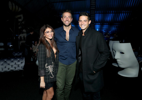 DIRECTV Super Saturday Night 2019 - Inside [fashion,event,night,photography,flash photography,fashion design,performance,style,formal wear,super,wells adams,zachary levi,sarah hyland,l-r,atlanta,georgia,atlantic station,directv]