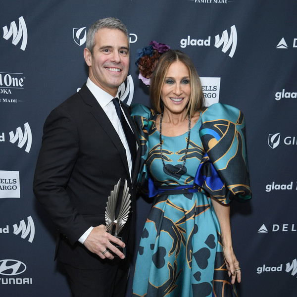 30th Annual GLAAD Media Awards New York – Backstage [event,premiere,award,carpet,smile,style,glaad media awards,new york,midtown,new york hilton,andy cohen,sarah jessica parker]