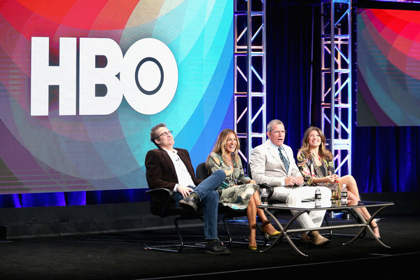 2016 Summer TCA Tour - Day 4 [product,event,design,convention,media,font,stage,company,television program,performance,paul simms,sharon horgan,actors,creator,thomas haden church,l-r,executive producer,executive producer,summer tca,panel discussion]