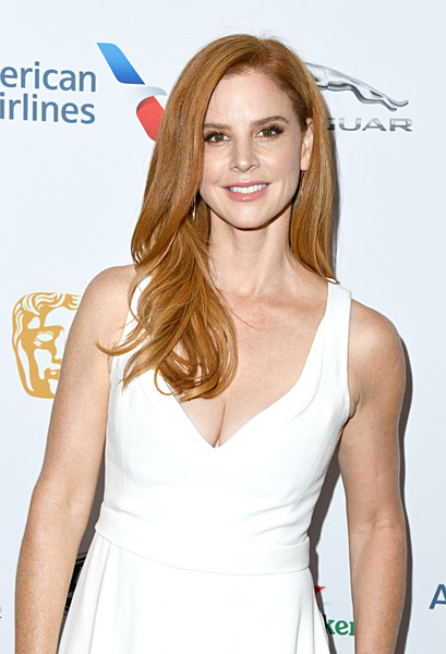 BAFTA Los Angeles And BBC America TV Tea Party 2019 – Arrivals [hair,hairstyle,clothing,beauty,blond,long hair,brown hair,lip,dress,premiere,arrivals,sarah rafferty,tea party,los angeles,beverly hills,california,the beverly hilton hotel,bafta,bbc,america tv]