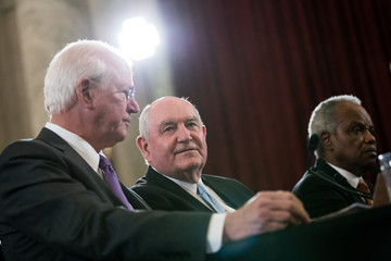 Saxby Chambliss Senate Holds Confirmation Hearing For Sonny Perdue To Be Agriculture Secretary