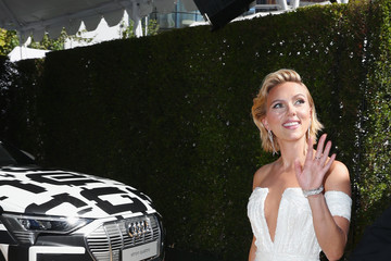 Scarlett Johansson Audi At The 70th Annual Emmy Awards