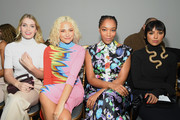 (L-R) Lady Kitty Spencer, Pixie Lott, Naomi Ackie and Kat Graham attend the Schiaparelli Haute Couture Spring/Summer 2020 show as part of Paris Fashion Week on January 20, 2020 in Paris, France.