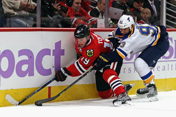 Scott Gomez St Louis Blues v Chicago Blackhawks