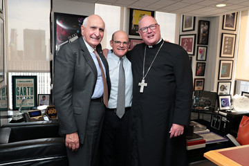 Scott Greenstein Cardinal Timothy Dolan Broadcasts His Weekly Show, 'Conversation With Cardinal Dolan,' Live From The Studios Of SiriusXM In New York City