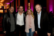 """(L-R) Steve Cropper, Charles Esten, Patty Hanson and Rudy Gatlin attend the second annual """"An Evening Of Scott Hamilton & Friends"""" hosted by Scott Hamilton to benefit The Scott Hamilton CARES Foundation on November 19, 2017 in Nashville, Tennessee."""
