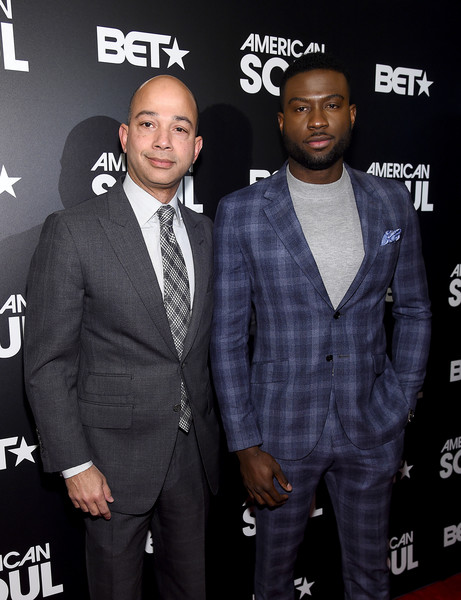 BET's 'American Soul' New York Premiere [suit,premiere,event,outerwear,carpet,tuxedo,flooring,formal wear,style,scott mills,sinqua walls,american soul,new york,new world stages,bet,premiere,new york premiere]