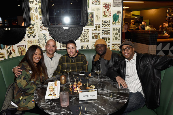 BET Hosts Annual Industry Reception At Handle During Sundance Film Festival [event,team,distilled beverage,liqueur,games,bet hosts annual industry reception,sinqua walls,devon gregory,connie orlando,scott mills,handle,bet,iva mills,sundance film festival,industry reception]
