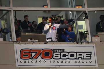 Scottie Pippen NLCS - Los Angeles Dodgers v Chicago Cubs - Game Six