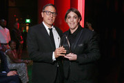 Filmmaker David O. Russell (L) and honoree Megan Ellison  attends the Screen Actors Guild Foundation 30th Anniversary Celebration at Wallis Annenberg Center for the Performing Arts on November 5, 2015 in Beverly Hills, California.