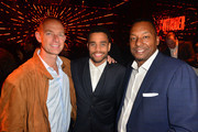 Eric Paquette, Michael Ealy and Deon Taylor attend Screen Gems Premiere of 'The Intruder' - After Party on May 01, 2019 in Los Angeles, California.