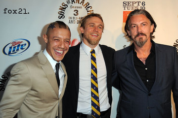"Charlie Hunnam Theo Rossi Screening Of FX's ""Sons Of Anarchy"" - Arrivals"