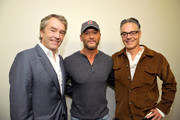 """(L-R)  Composer Carter Burwell, Tim McGraw, and composer Marco Beltrami attend the screening of """"Free Solo"""" hosted by Tim McGraw at SilverScreen Theater at the Pacific Design Center on November 11, 2018 in West Hollywood, California."""