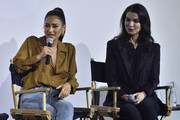 """Shay Mitchell and Sera Gamble attend the Screening Of Lifetime's """"You"""" Series Premiere on September 5, 2018 in New York City."""