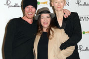 """(L-R) Screenwriter Rory Kinnear, director Lynne Ramsay and actress Tilda Swinton attend the Screening of Oscilloscope Laboratories' """"We Need To Talk About Kevin"""" at the Writers Guild Theater on November 10, 2011 in Beverly Hills, California."""