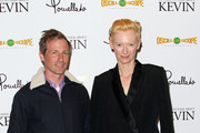 """Host Spike Jonze (L) and actress Tilda Swinton attend the Screening of Oscilloscope Laboratories' """"We Need To Talk About Kevin"""" at the Writers Guild Theater on November 10, 2011 in Beverly Hills, California."""