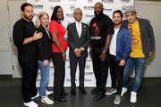 "(L-R) Jenner Furst, Julia Willoughby Nason, Sybrina Fulton, Al Sharpton, Tracy Martin, Michael Gasparro and Chachi Senior attend the Screening And Panel For ""Rest In Power: The Trayvon Martin Story"" at The Apollo Theater on July 29, 2018 in New York City."
