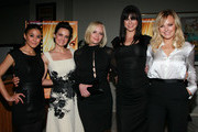 """(L-R) Actresses Emmanuelle Chriqui, Carla Gugino, Marley Shelton, Adrianne Palicki and Malin Akerman attend a screening of Samuel Goldwyn Films' """"Elektra Luxx"""" at the Charles Aidikoff Screening Room on March 4, 2011 in Beverly Hills, California."""