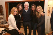 """(L-R) Actress/activist Maria Bello, filmmaker Jehane Noujaim, philanthopist Kevin Wall, Dr. Susan Smalley and social impact investor Clare Munn attend the screening for """"The Square"""" at the home of Maria Bello on October 11, 2013 in Santa Monica, California."""