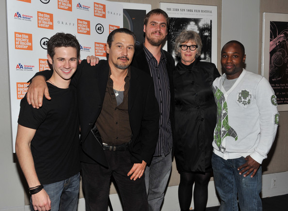 """""""Stake Land"""" New York Premiere [stake land,social group,event,premiere,smile,connor paolo,jim mickle,kelly mcgillis,nick damici,sean nelson,l-r,new york,premiere,premiere]"""