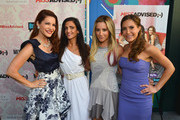 """(L-R) TV Personalities Julia Allison, Emily Morse, executive producer Ashley Tisdale and TV personality Amy Laurent attend the season premiere viewing party of Bravo's """"Miss Advised"""" hosted by Executive Producer Ashley Tisdale held at Planet Dailies & Mixology 101 on June 18, 2012 in Los Angeles, California."""