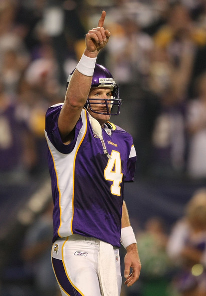 brett favre vikings celebrating. Brett Favre Brett Favre #4 of