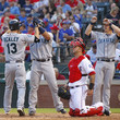 Miguel Olivo and Dustin Ackley Photos
