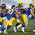 Todd Gurley Photos - Quarterback Jared Goff #16 of the Los Angeles Rams looks to hand off during the game against the Seattle Seahawks at Los Angeles Memorial Coliseum on November 11, 2018 in Los Angeles, California. - Seattle Seahawks v Los Angeles Rams