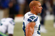 Jimmy Graham #88 of the Seattle Seahawks warms up prior to a game against the St. Louis Rams at the Edward Jones Dome on September 13, 2015 in St. Louis, Missouri.
