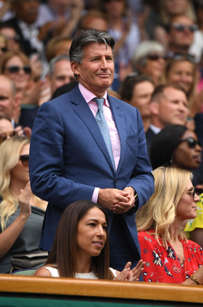 Day Six: The Championships - Wimbledon 2019 [people,audience,event,crowd,championship,gesture,sebastian coe,royal box,england,london,all england lawn tennis and croquet club,centre court,wimbledon]