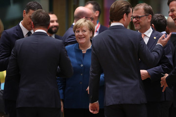 Sebastian Kurz The October Euro Summit Takes Place In Brussels