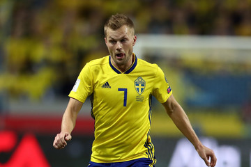 Sebastian Larsson Sweden v Italy - FIFA 2018 World Cup Qualifier Play-Off: First Leg