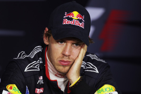 Sebastian Vettel Sebastian Vettel of Germany and Red Bull Racing attends the drivers press conference following the Hungarian Formula One Grand Prix at the Hungaroring on August 1, 2010 in Budapest, Hungary.