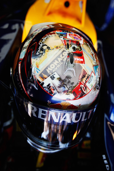 Sebastian Vettel Sebastian Vettel of Germany and Red Bull Racing wears a newly designed drivers helmet during practice for the Monaco Formula One Grand Prix at the Monte Carlo Circuit on May 26, 2011 in Monte Carlo, Monaco.