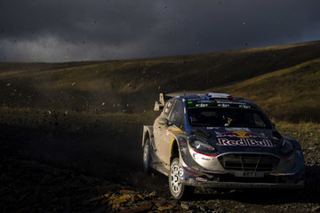 Sebastien Ogier FIA World Rally Championship Great Britain - Day One