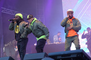 (L-R) Rappers will.i.am, Taboo and apl.de.ap of The Black Eyed Peas perform at Secret Solstice Festival powered by Icelandic Glacial on June 22, 2019 in Reykjavik, Iceland.