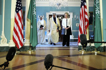 Salman bin Abdul-Aziz Al Saud Secretary Of State Hillary Clinton Meets With Saudi Arabian Defense Minister